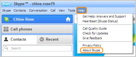 What version of Skype.