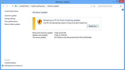 Windows 8 Update Center